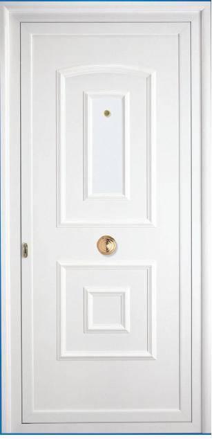 Puertas de entrada a viviendas puertas de aluminio y pvc - Puertas de entrada metalicas precios ...